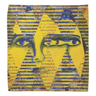 Conundrum II, Golden Sapphire Goddess Abstract Bandannas