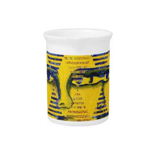 Conundrum II – Golden & Sapphire Goddess Beverage Pitcher