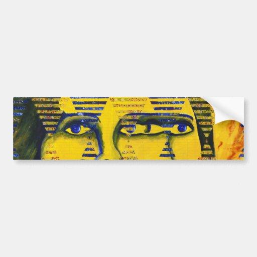 Conundrum II – Golden & Sapphire Goddess Car Bumper Sticker