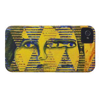 Conundrum II – Golden & Sapphire Goddess iPhone 4 Case-Mate Cases