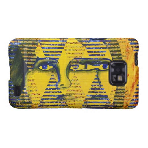 Conundrum II – Golden & Sapphire Goddess Samsung Galaxy SII Cover