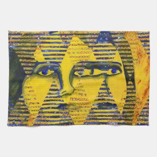 Conundrum II – Golden & Sapphire Goddess Hand Towels