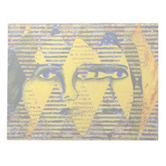 Conundrum II – Golden & Sapphire Goddess Memo Notepad
