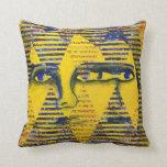 Conundrum II – Golden & Sapphire Goddess Pillows