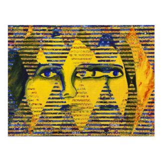 Conundrum II – Golden & Sapphire Goddess Postcard