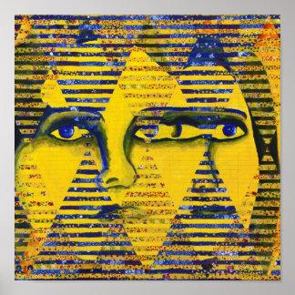 Conundrum II – Golden & Sapphire Goddess Poster