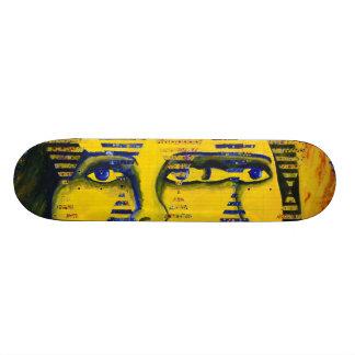Conundrum II – Golden & Sapphire Goddess Skateboard