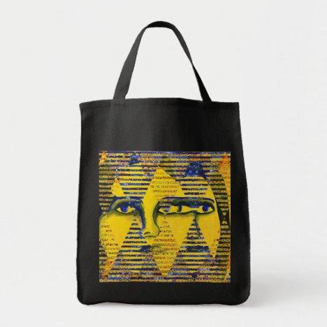 Conundrum II – Golden & Sapphire Goddess Tote Bag