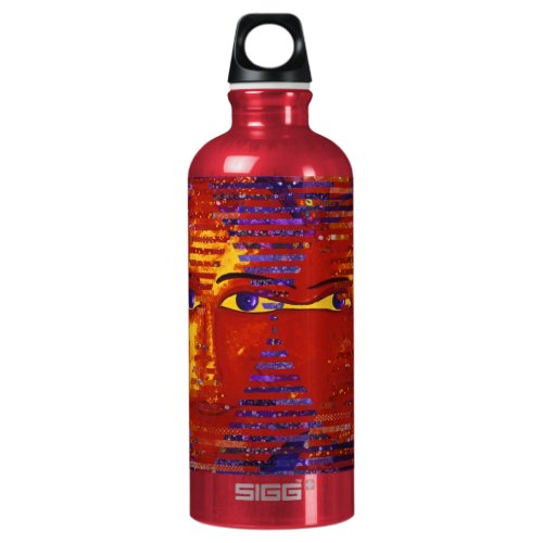 Conundrum III - Abstract Purple &amp&#x3B; Orange Goddess Aluminum Water Bottle