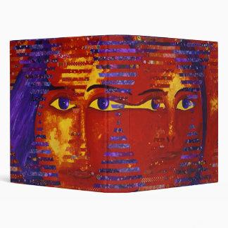 Conundrum III - Abstract Purple & Orange Goddess Binder