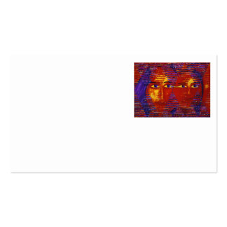 Conundrum III - Abstract Purple & Orange Goddess Business Card Templates