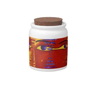 Conundrum III - Abstract Purple & Orange Goddess Candy Jars