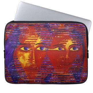 Conundrum III - Abstract Purple & Orange Goddess Computer Sleeve