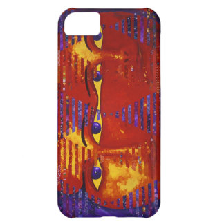 Conundrum III - Abstract Purple & Orange Goddess Cover For iPhone 5C