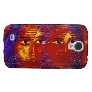 Conundrum III - Abstract Purple & Orange Goddess Galaxy S4 Case