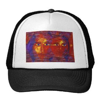 Conundrum III - Abstract Purple & Orange Goddess Hat