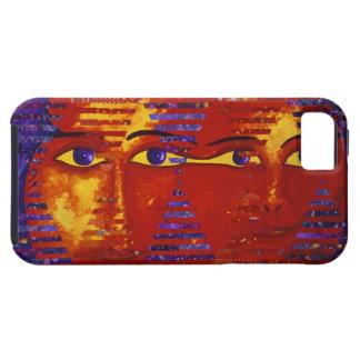 Conundrum III - Abstract Purple & Orange Goddess iPhone SE/5/5s Case