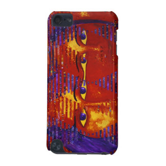 Conundrum III - Abstract Purple & Orange Goddess iPod Touch (5th Generation) Case