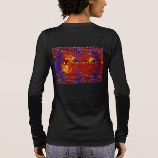 Conundrum III - Abstract Purple & Orange Goddess Long Sleeve T-Shirt