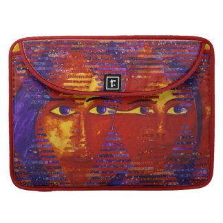 Conundrum III - Abstract Purple & Orange Goddess MacBook Pro Sleeves