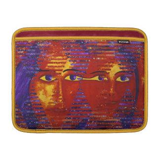Conundrum III - Abstract Purple & Orange Goddess MacBook Sleeve