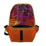 Conundrum III - Abstract Purple & Orange Goddess Messenger Bag