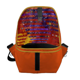 Conundrum III - Abstract Purple & Orange Goddess Messenger Bag