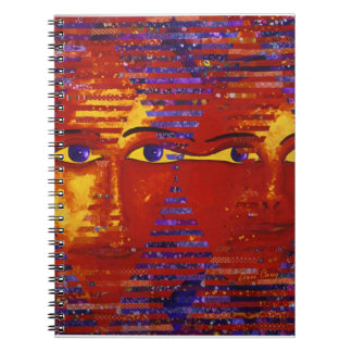 Conundrum III - Abstract Purple & Orange Goddess Notebook