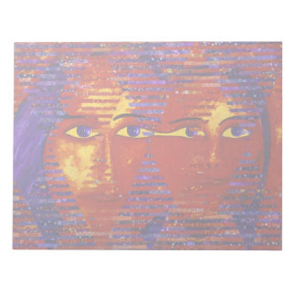 Conundrum III - Abstract Purple & Orange Goddess Note Pads