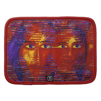 Conundrum III - Abstract Purple & Orange Goddess Folio Planners