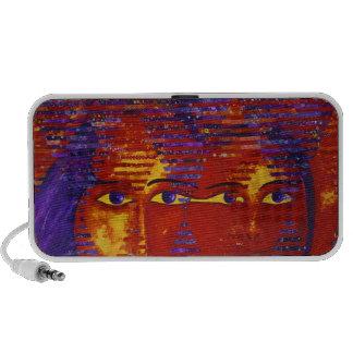 Conundrum III - Abstract Purple & Orange Goddess Mp3 Speaker