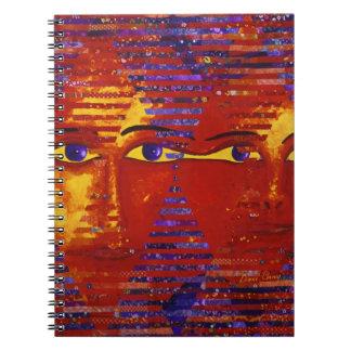 Conundrum III - Abstract Purple & Orange Goddess Spiral Notebook