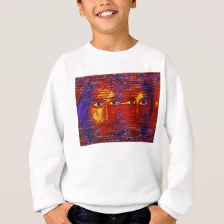 Conundrum III - Abstract Purple & Orange Goddess Sweatshirt