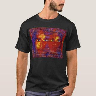 Conundrum III - Abstract Purple & Orange Goddess T-Shirt