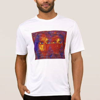 Conundrum III - Abstract Purple & Orange Goddess T-Shirt