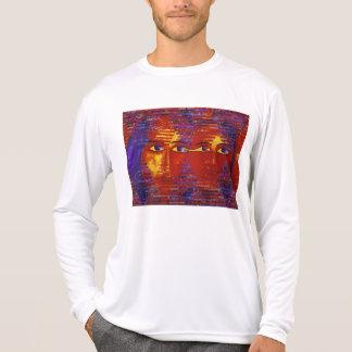 Conundrum III - Abstract Purple & Orange Goddess T-shirts