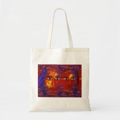 Conundrum III - Abstract Purple & Orange Goddess Tote Bag