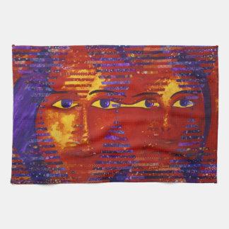 Conundrum III - Abstract Purple & Orange Goddess Towel