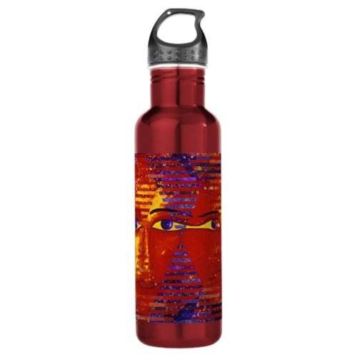 Conundrum III - Abstract Purple &amp&#x3B; Orange Goddess Water Bottle