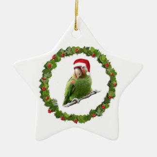 Conure Christmas Wreath Ceramic Ornament