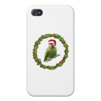 Conure Christmas Wreath Case For iPhone 4