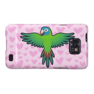 Conure/Lorikeet/amor del loro Samsung Galaxy S2 Carcasa
