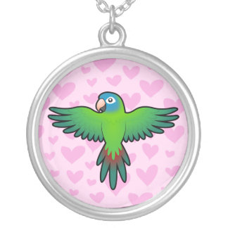 Conure / Lorikeet / Parrot Love Silver Plated Necklace