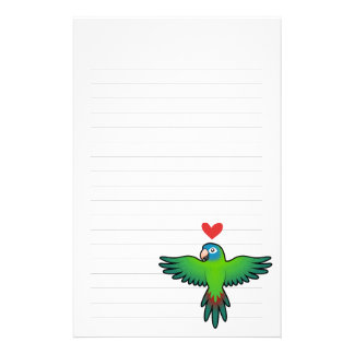 Conure / Lorikeet / Parrot Love Stationery