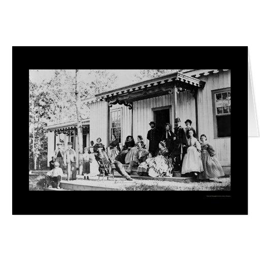 Convalescent Camp near Alexandria, VA 1865 Greeting Card