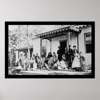 Convalescent Camp near Alexandria, VA 1865 Poster