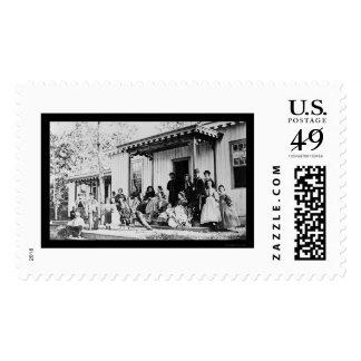 Convalescent Camp near Alexandria, VA 1865 Stamp