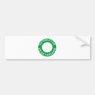 Conveniente para los vegetarianos pegatina de parachoque