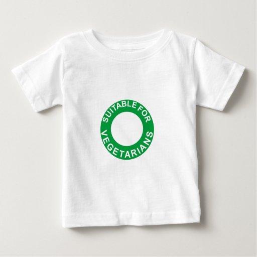 Conveniente para los vegetarianos playera de bebé