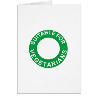 Conveniente para los vegetarianos tarjetas